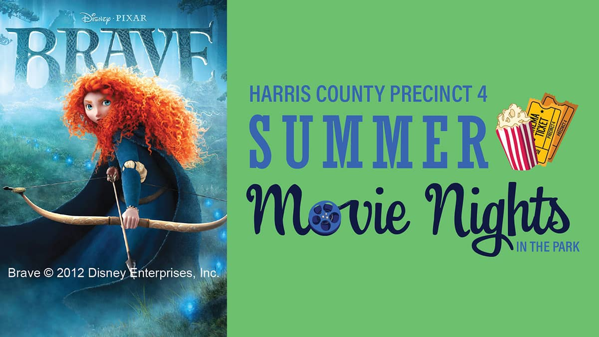 Free! Movies start at sunset. In an act of defiance, Princess Merida makes a deal with a witch to change her mother. The change is not what Merida expected, and now, she must find a way to undo the 'beary' bad curse she has brought upon her family. Bring your blankets, chairs, and snacks to enjoy a family-friendly movie night, complete with take-home craft kits.